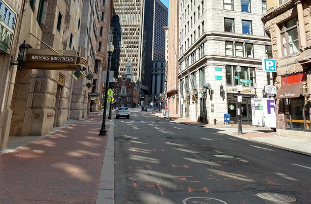 State Street with almost nobody there