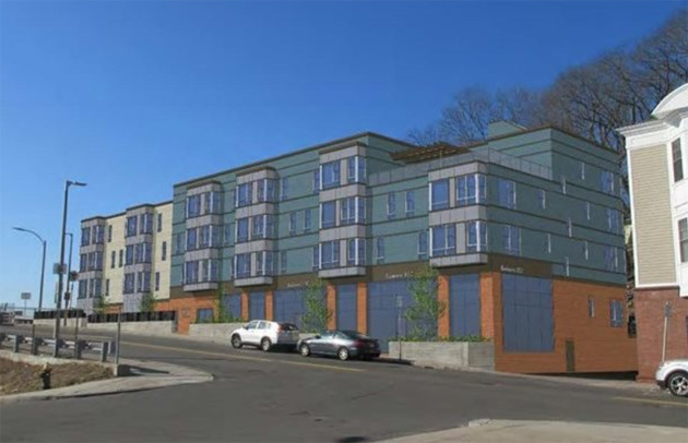 Rendering of new Fairmount Avenue apartment building