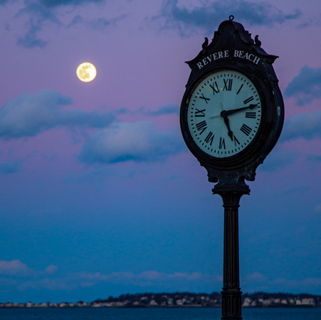 Full moon over Revere Beach