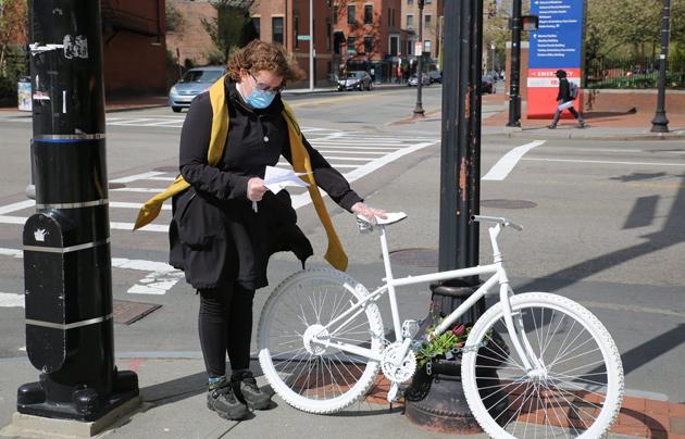 Ghost bike at Harrison and Massachusetts avenue