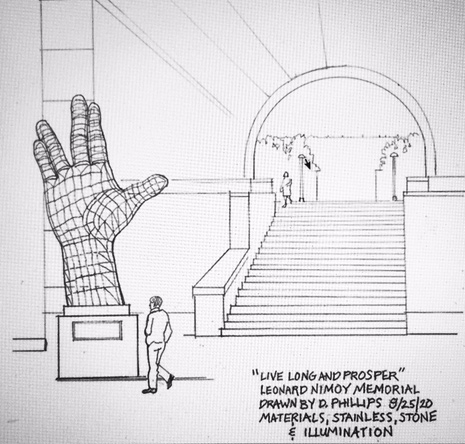 Proposed Live Long and Prosper monuent