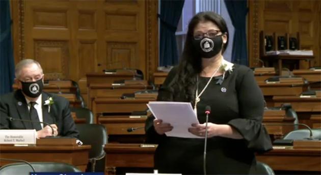 Linda Monteiro nominates Biden and Harris