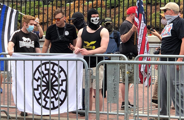 Nazis in front of the Massachusetts State House
