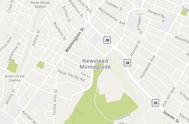 Newstead Monteglade on a MapQuest map