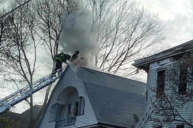 Firefighters battling fire in one of two Nightingale Street houses