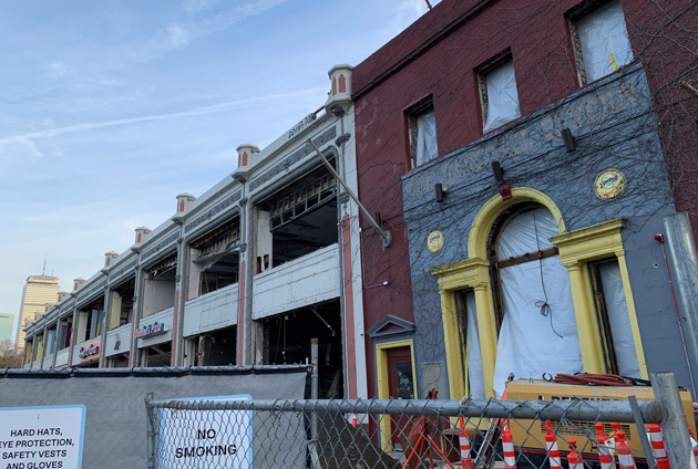 Old Machine and Baseball Tavern being torn down