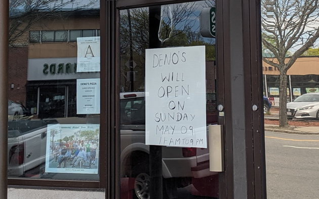 Deno's in West Roxbury re-opening