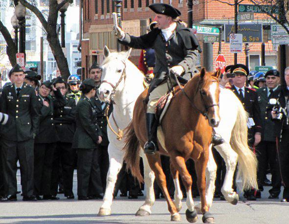 Paul Revere leaves on his ride