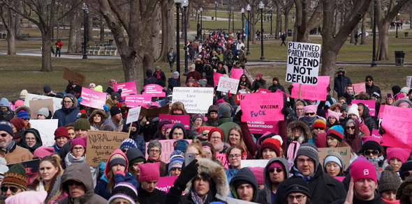 Planned Parenthood rally on Boston Common