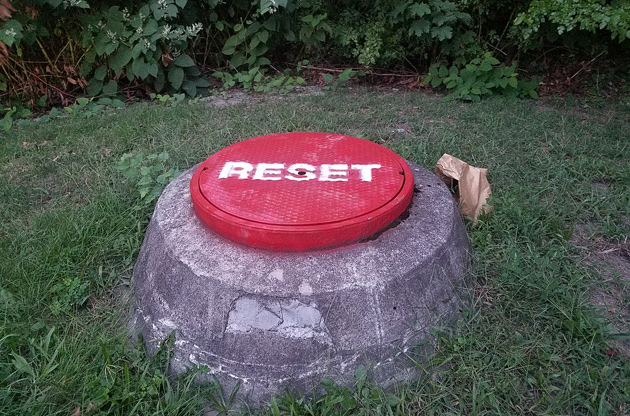 Giant reset button in Somerville