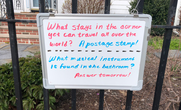 Trivia questions on Eliot Street in Jamaica Plain: What musical instrument is found in the bathroom?