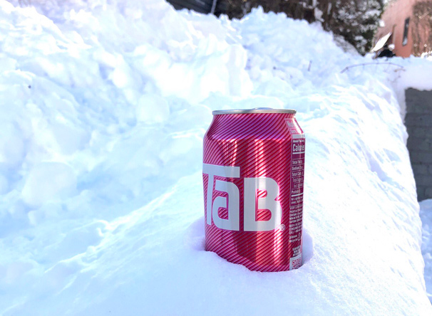 Tab in the snow