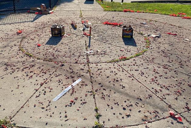 Fireworks remains in Dorchester