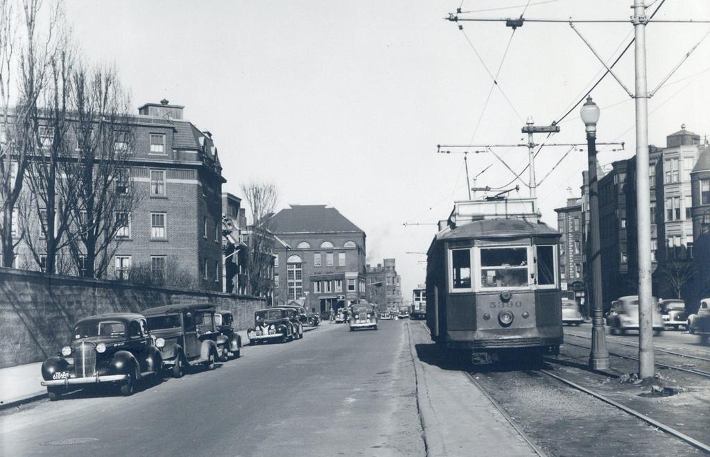 Streetcar in old Boston