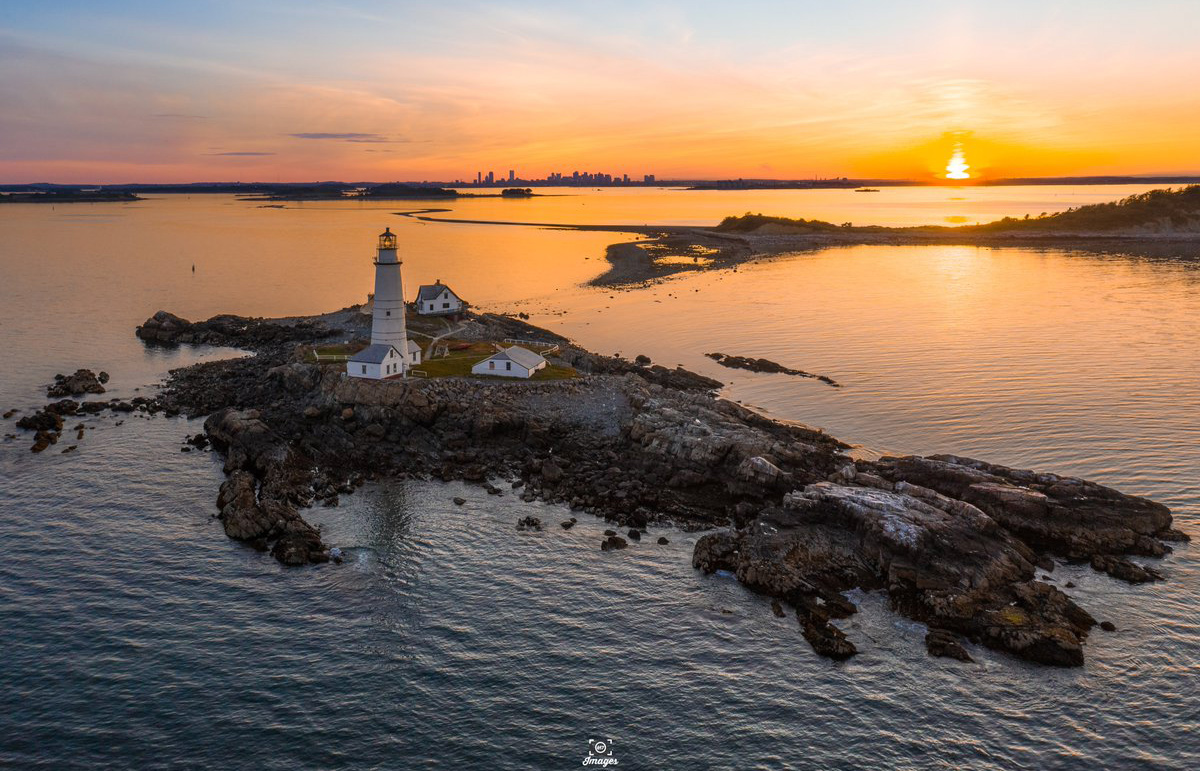 Sunset over Boston Light
