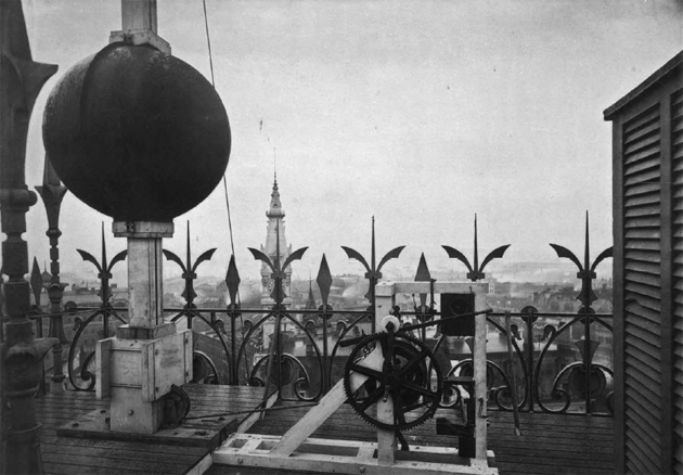 Time ball atop the Equitable Building in 1881