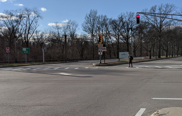 VFW Parkway at Spring Street in West Roxbury
