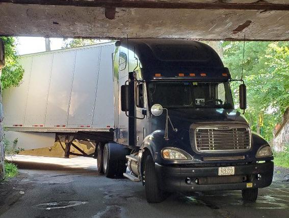 Storrowed truck in Wellesley