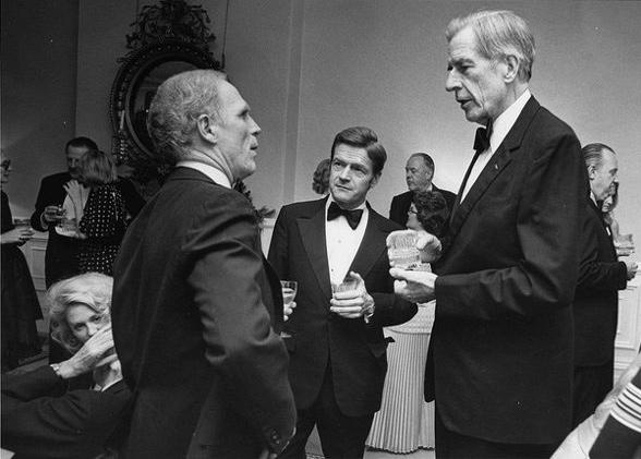 Kevin White, John Kenneth Galbraith and John Silber