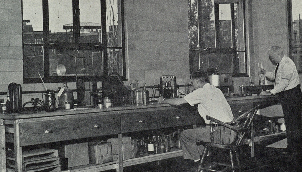 Two guys at a workbench