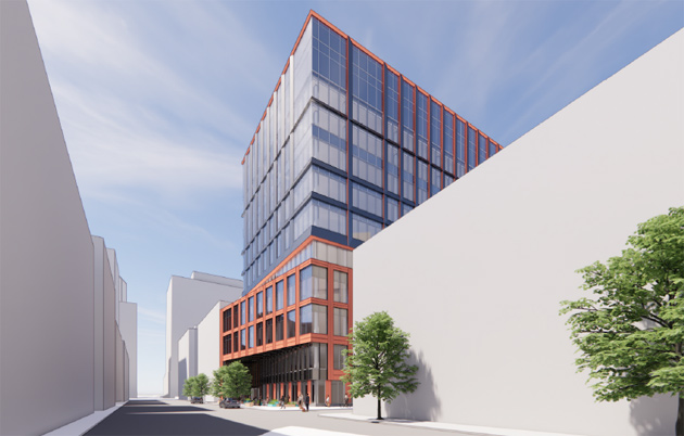 Rendering of proposed 109 Brookline Ave.