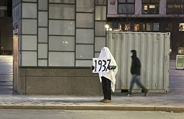 1937 protest outside South Station - what?