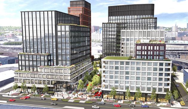 View across Dorchester Avenue