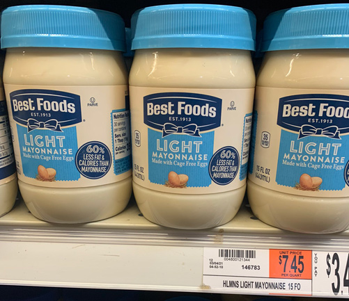 Best Foods mayonnaise in Westwood