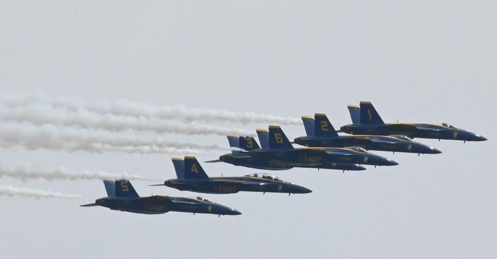 Blue Angels over Boston Harbor