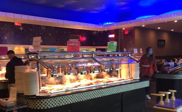 Inside the buffet