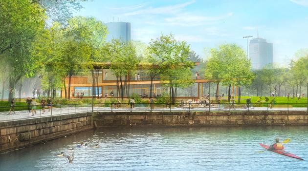 Proposed new Esplanade visitor center