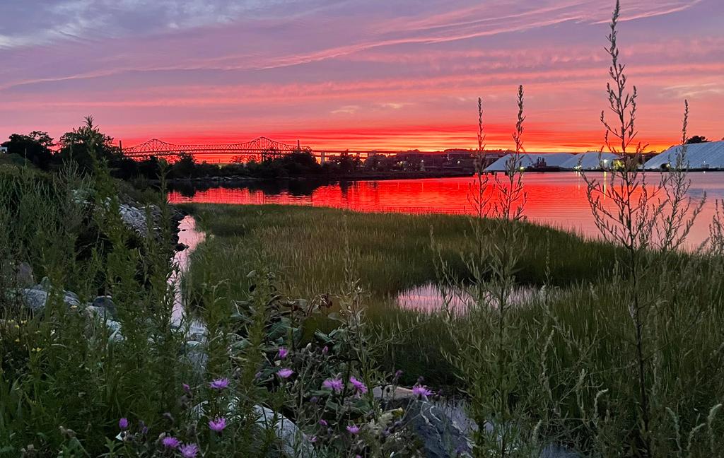 Sunset over Chelsea Creek