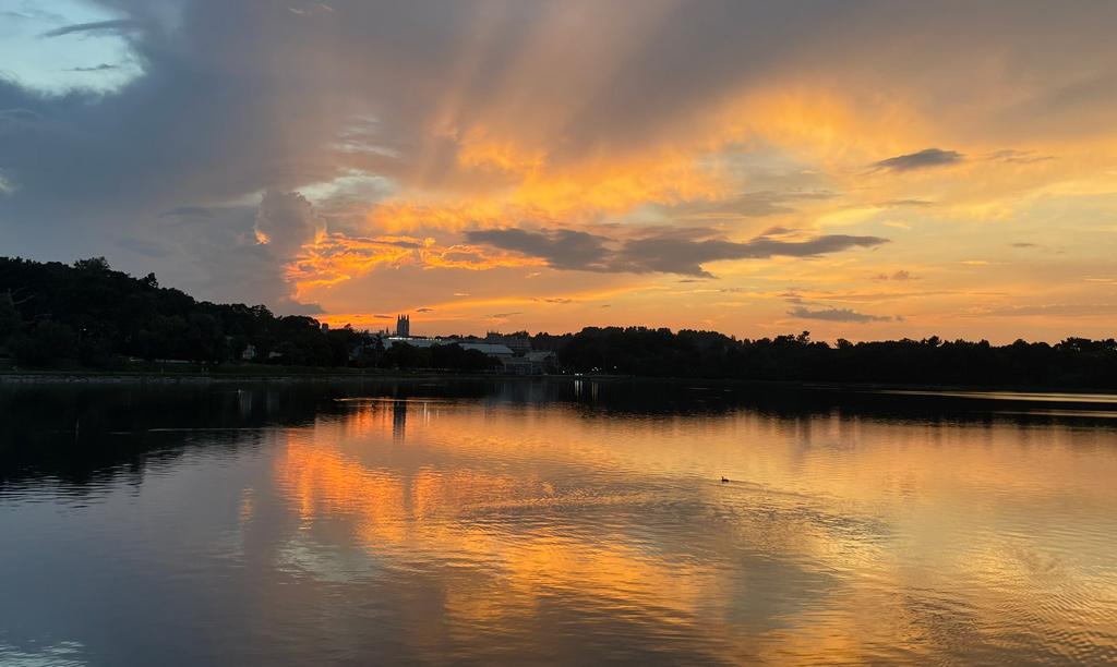 Sunset over Chestnut Hill Reservoir