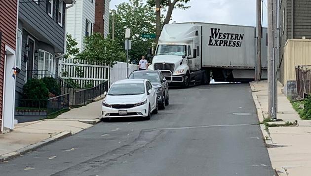 Stuck truck in Charlestown
