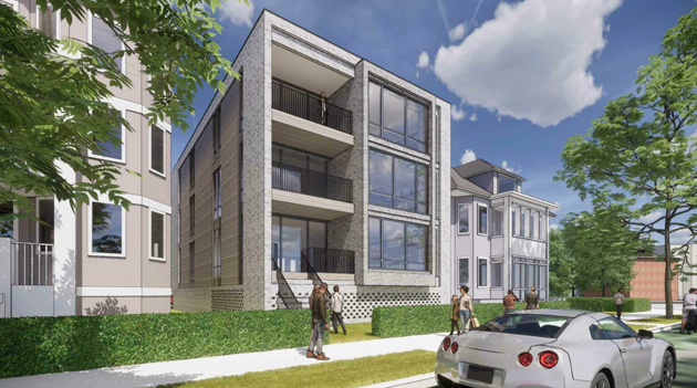 Rejected: Rendering of proposed new house on Columbia Road