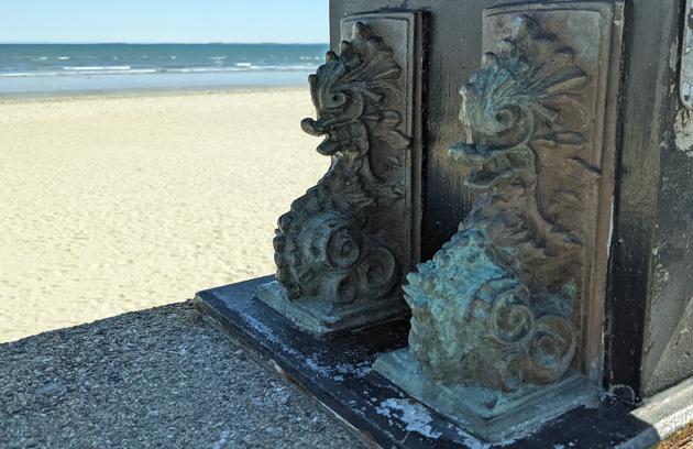 Fish gargoyles at Revere Beach