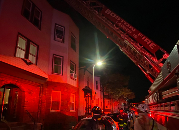 East 4th fire scene