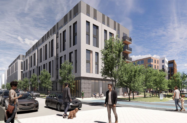 Rendering of building at Bremen and Gove streets