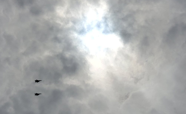 Fighter jets over Boston