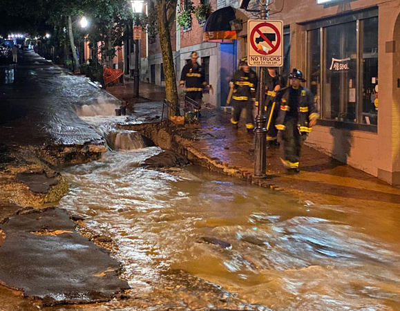 Beacon Hill street turned into torrent