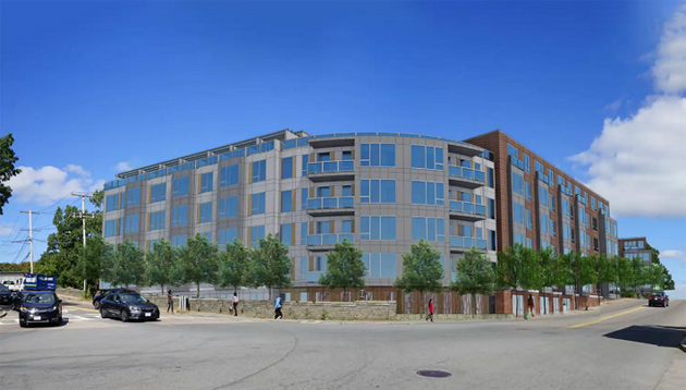 Rendering of proposed Hyde Park Avenue building.