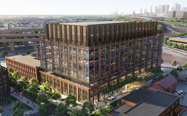 Rendering of first phase of project