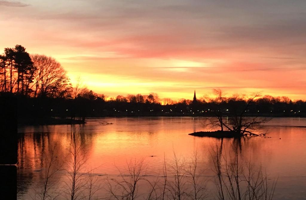 Sunrise over Jamaica Pond