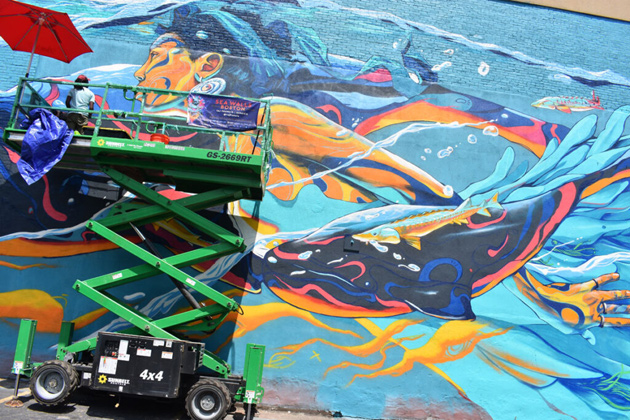Liverpool Street in East Boston gets a sea-related mural