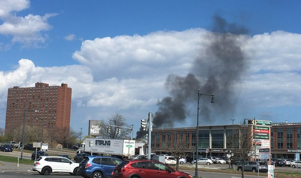 Fire from Fresh Pond