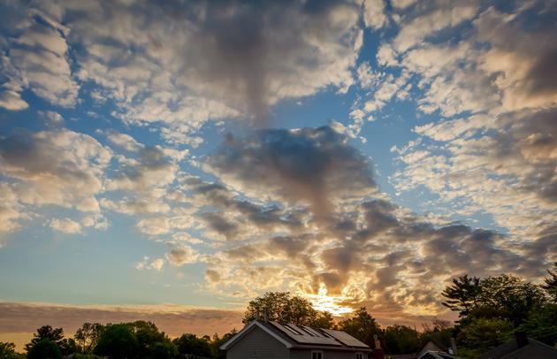 Morning light over Cambridge