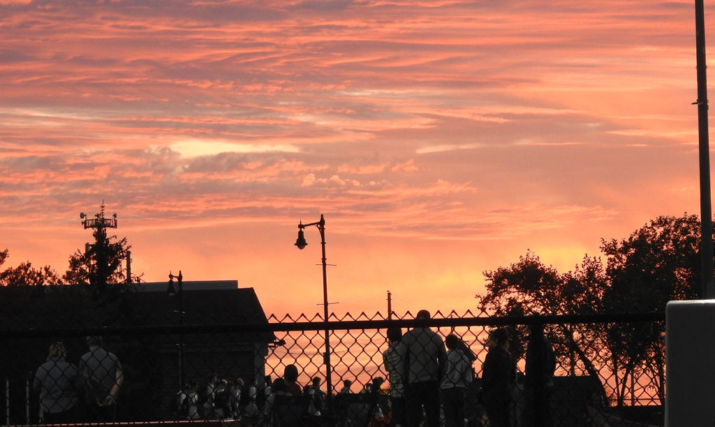 Sunset over Millennium Park