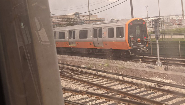 Orange Line out for testing