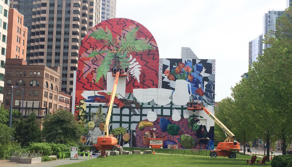 New mural in Dewey Square