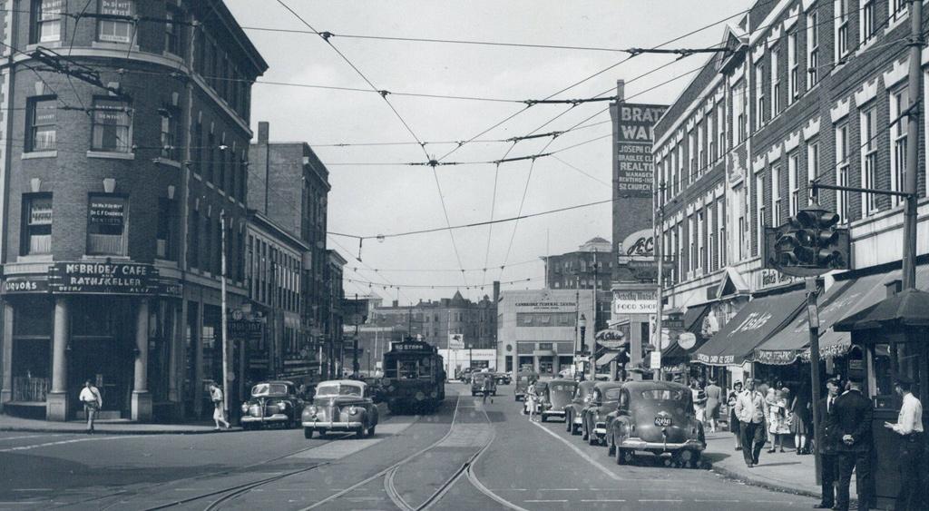 Street scene in old Boston
